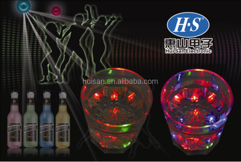 LED Light Up Whiskey bar light up cup- Flashing Drink Ware led cup
