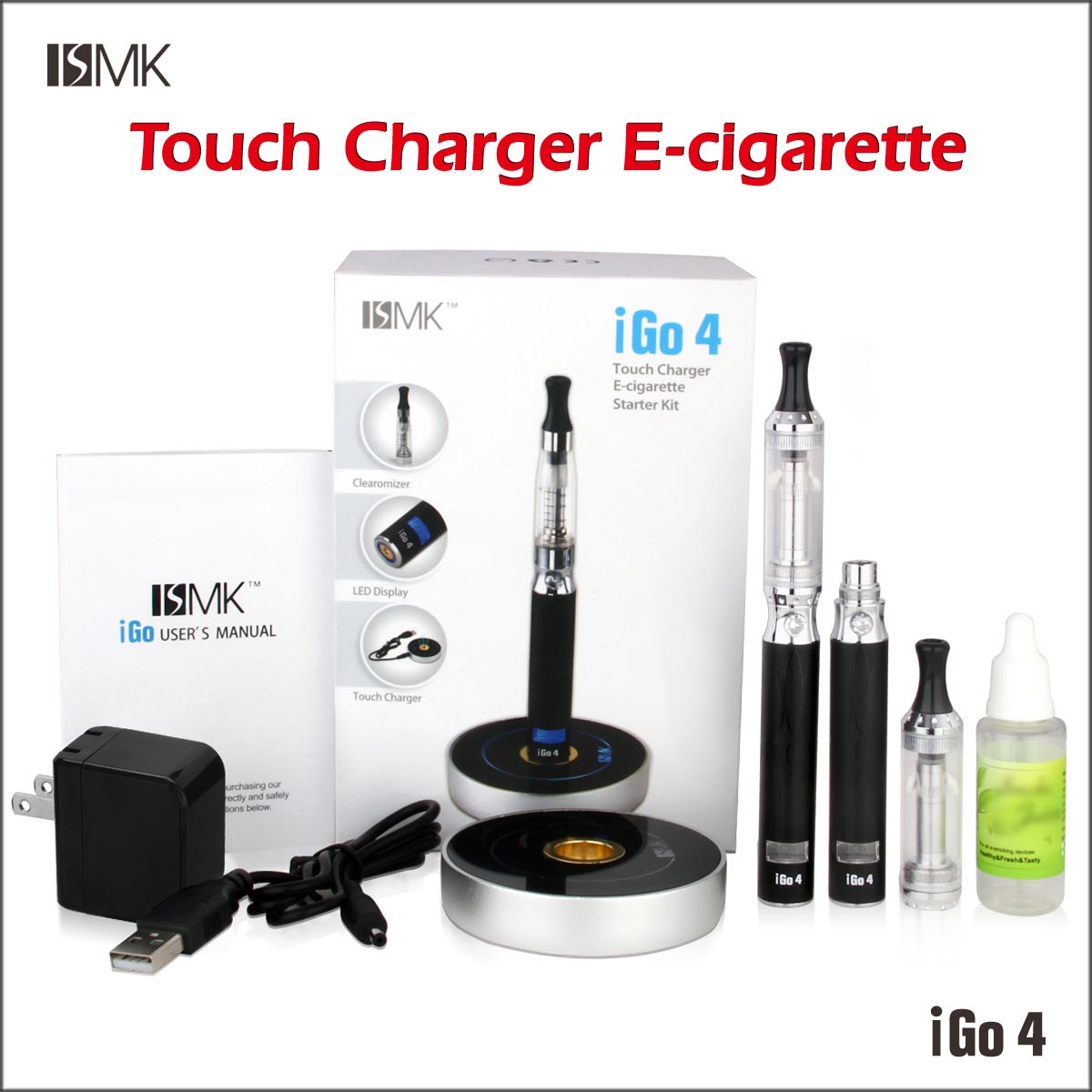 2013 new inventions electronic smoking vapor cigarette IGO4 lava tube electronic cigarette starter kit