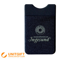 PVC+Lycra cloth silicone card holder wallet with custom logo