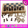 2015 Wooden classic chess game set for kids,international chess toy for children,wooden folding chess board for baby WJ277086