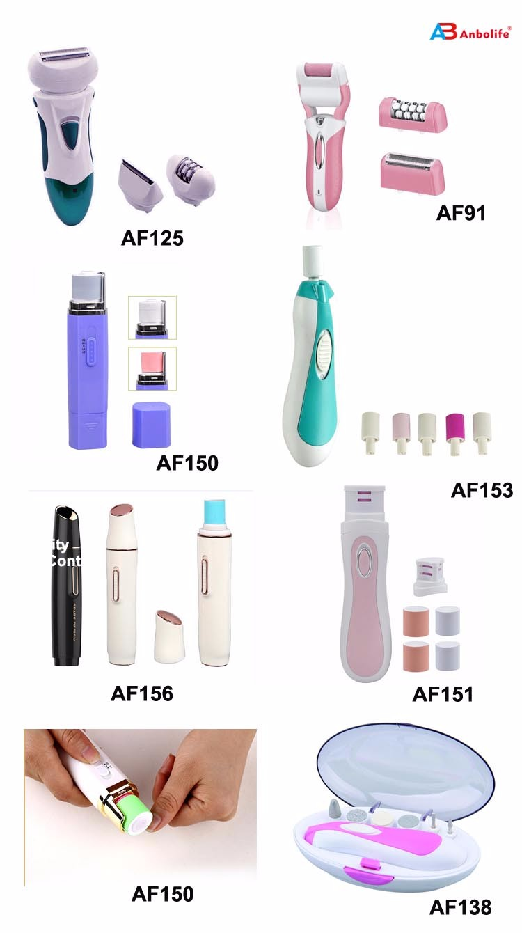 Nail polisher 2* AA Batteries Operated Professional Manicure Kit With Buffing/Smoothing function