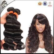 custom logo beads Virgin Wet and Wavy Indian Remy Hair Weave