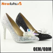 China manufacturer custom White Color high heel ladies wedding shoes