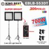 KING BEST 306 PCSX2 Professional Dimming led Studio Photography video light kit with Light stand