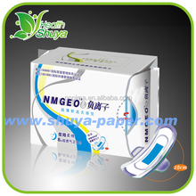 OEM Active Oxygen and Negative Ions Anion Product with Ultra-soft Cotton Sanitary Napkins