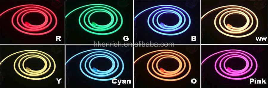 Flexible RGBW neon light for outdoor