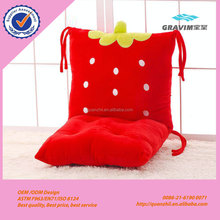 Plush cute cartoon animal and fruit car seat cushion memory foam zero gravity chair seat cushion