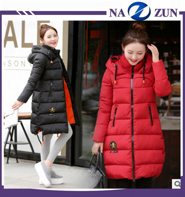 high quality winter cotton coat manufacture Brand Name Fashion Waterproof Winter Long For Women Down Coat