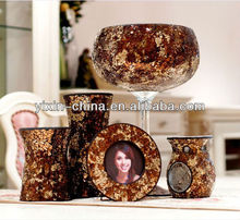 Handmade Cracked Glass Mosaic Votive Candle Holder/Mosaic photo frame
