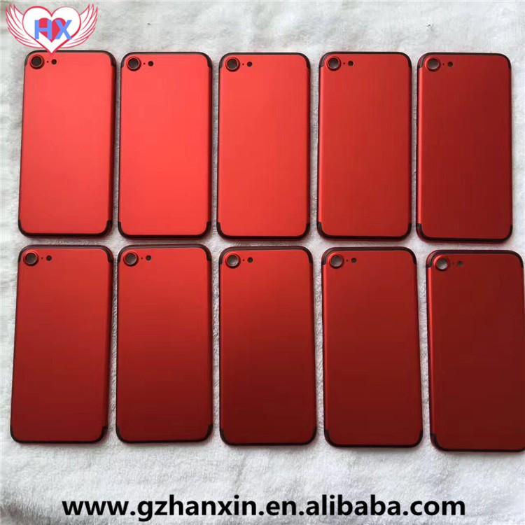 Replacement 2017 China Red back Housing with Logo for iPhone 6 6Plus 6S 6S plus 7 7 Plus Battery Door Back Cover Housing