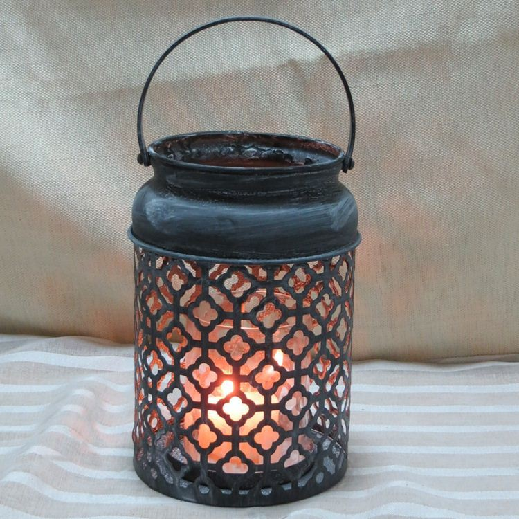Metal Candle Holder With Garden Stake