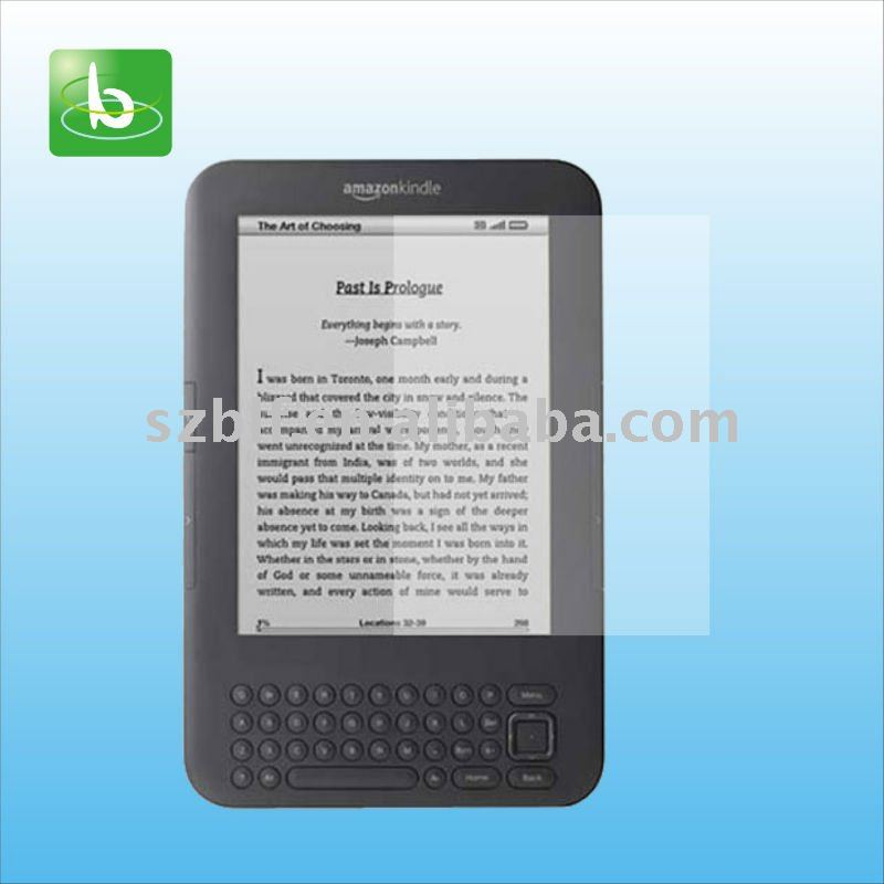 Crystal clear lcd screen protector for Amazon Kindle 3 fast delivery time