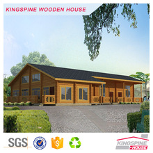 Prefabricated log cabin Wooden House Restaurant Design KPL-025