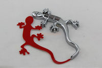 Solar led 3D Gecko Car Badge Emblem Warning Flash Tail Light,car badges auto emblems