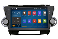 Cheap 10.2 Inch multi touch screen android dvd car audio gps navigation system for toyota highlander 2009 2012