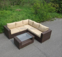 Outdoor Garden Rattan Corner Sofa Set Rattan Furniture