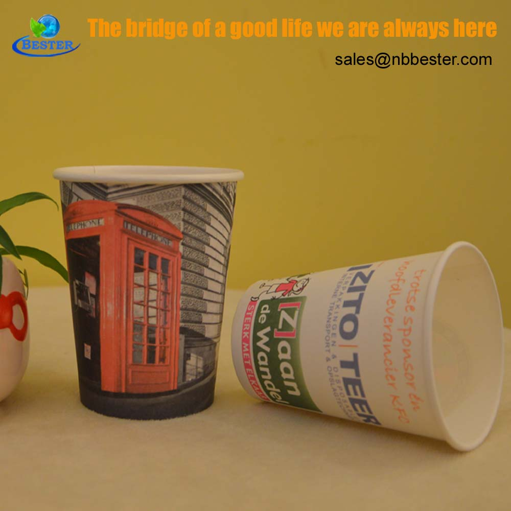 Wholesale custom printed biodegrad hot paper cup
