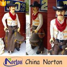 Cartoon character life size resin cowboy statue NTRS-CS747A