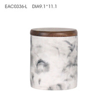 High quality white marble finish candle jars with lid eco-friendly concrete white marble candle jars