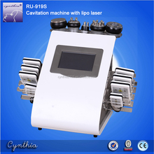 newest high quality Vacuum cavitation 40k ultrasound RF lipo laser slimming machine ultrasonic beauty instrument Cynthia RU919S