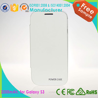 Top sale 3200mah rechargeable battery case for samsung galaxy s3 i9600 power case for sale