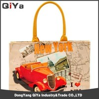 Korea Image Of Women Canvas Lady Purse And Handbag Fashion Tote Bag