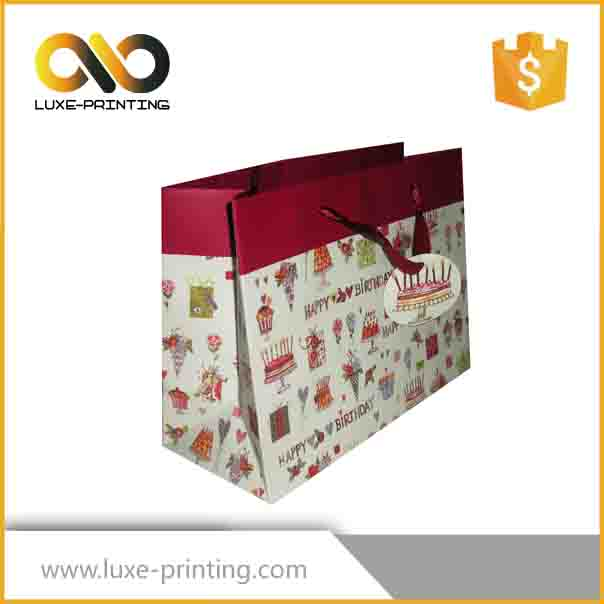 Factory sale christmas gift wine paper bag
