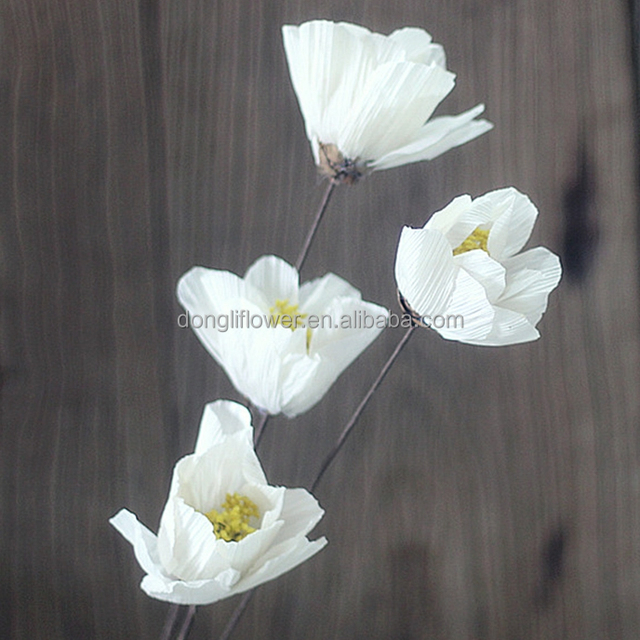 Dried Michelia alba flower artificial hand-made magnolia flower by maize corn peel husk and yarrow