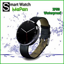 MaPan 360 Round waterproof Newest Product Touch Screen Heart rate monitor Smart Watch mobile phone MW02