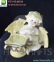 Resin angel with wings church candle stands