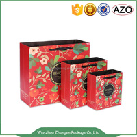 Flower printed paper bag,gift packing bag,promotional customized paper bag