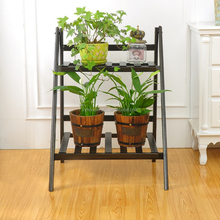 High quality best sell indoor wrought iron 2 tier plant stand
