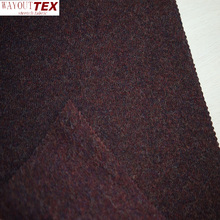 Dark red Camouflage pattern heavy wool polyester fabric for men's garment