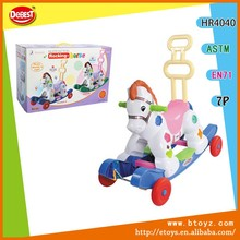 Plastic Multi-functional Riding Rocking Horse With Music