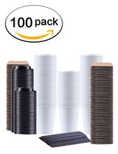 Amazon ebay aliexpress Xícaras de Café de Papel Eco Friendly, 12 oz Copos de Café Descartáveis