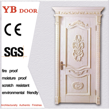 direct factory price pine solid interior door net and wooden timber door YBVD-6163