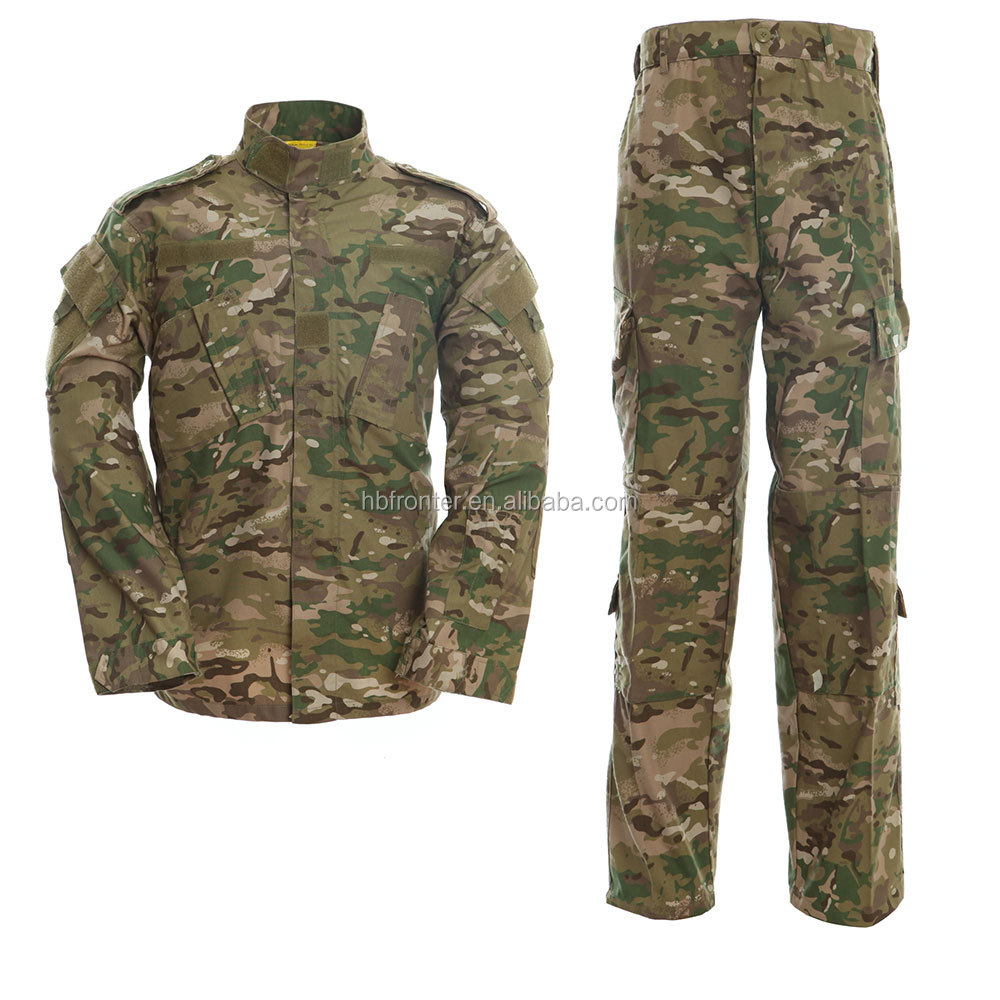 65% polyester 35% cotton military style uniform set/ army combat military jacket & pants