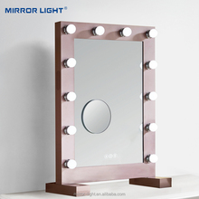 Factory Wholesale Custom illuminated Led Makeup Vanity Hollywood Mirrors with Lights HD020