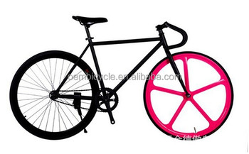 700*23c colorful front five spoke fixie bike