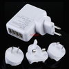 2.1A 4 Four Port Universal Mobile Phone USB Wall Charger AC Travel Plug Adapter