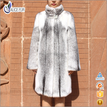 Hot Sale Luxury Real Woman Winter Natural Cross Mink Fur Coat Wholesale With Best Price