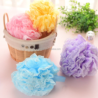 2015 hot selling colorful flower shaped bath sponge