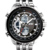 fashions new arrival black and silver colour stainless steel digital watches