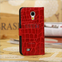 Wallet leather pouch case for samsung galaxy s4 mini