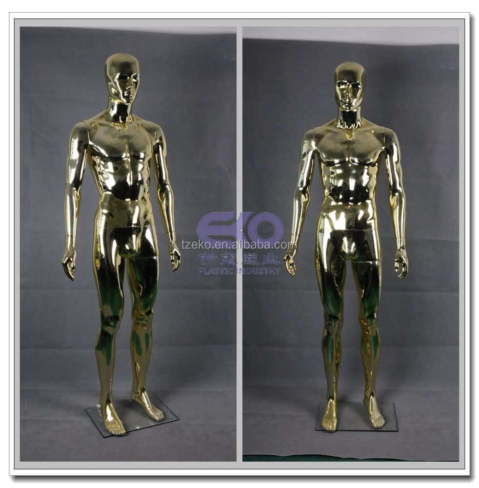 Chrome adjustable very young models male plastic mannequin