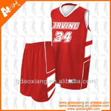 Blank red basketball uniform customized for team club