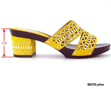 Party shoes and bags beautiful nice nigerian african slippers From China supplier