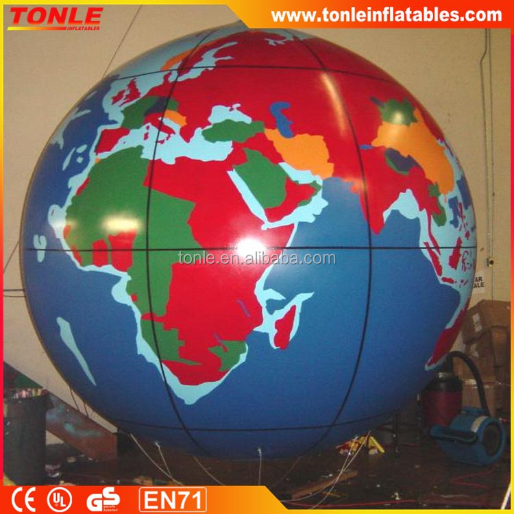 large Inflatable Helium Globe Advertising Balloon/planet ball balloon for sale