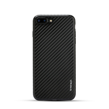 Flexible Luxury Carbon Fiber Texture Electroplating Soft TPU Case Super Slim Cellphone Silicone Case for iPhone 7