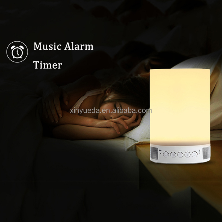 Newest Design Wireless Audio LED Lamp Bluetooth Speaker with LED bed Lamp